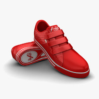 3d red sport shoes model