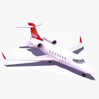 3d model 85 business jet
