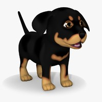 Cartoon Doggy 04 Rottweiler Puppy