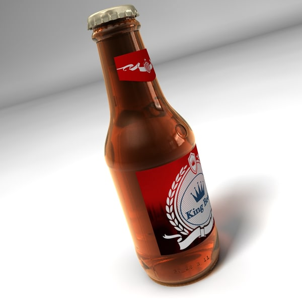bottle beer 3d 3ds - Bottle of Beer... by C4DmodelSHOP