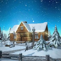 winter christmas snow 3d model