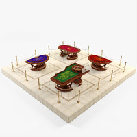 3d casino table model
