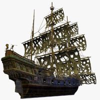 pirate ship details 3d max