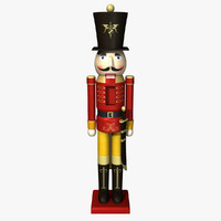 Wooden Nutcracker 3D models