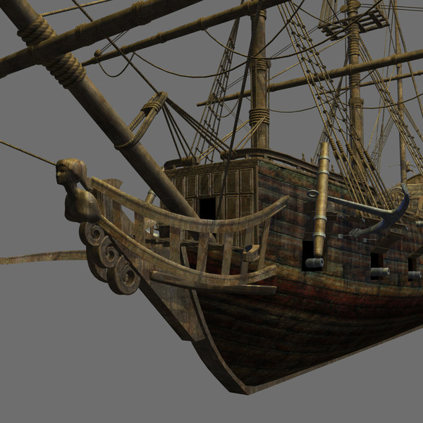 pirate ship details 3d max - Pirate Ship Detailed... by Luke_Ahearn