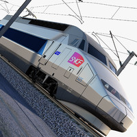 3ds max tgv locomotive atlantique trains