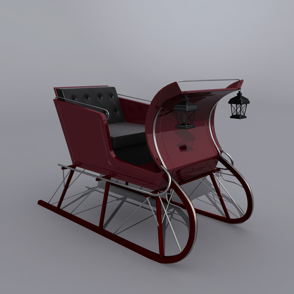 sled sleigh 3d model - Sled... by QLEE