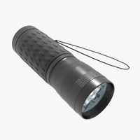 3d model flashlight light led