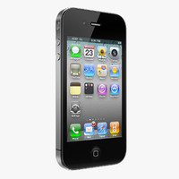 iphone 4 phone 3d obj