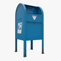 3d model new york mail box