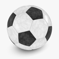 3d leather soccer ball model