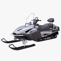 yamaha viking professional snowmobile 3d model