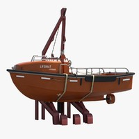 open lifeboat davit 3d model