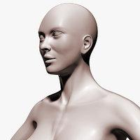 woman body c4d