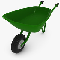 3ds max wheelbarrow wheel barrow