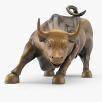 wall street bull 3d model