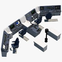 ship s bridge control 3d model