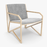 3d model armchair sides