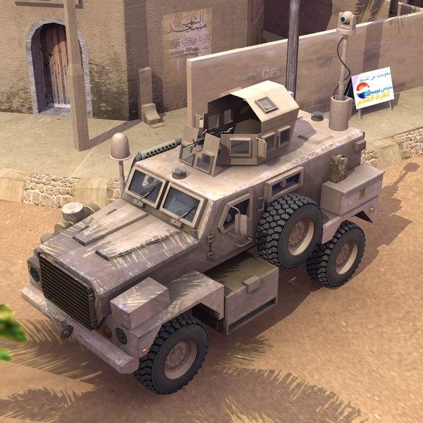3d cougar 4x4 mrap model
