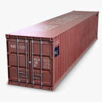3d container modeled