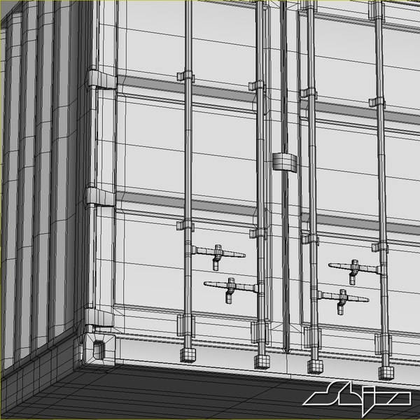 3d container modeled - Container 40 ft... by shiva3d