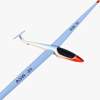 3d model asw 20 glider