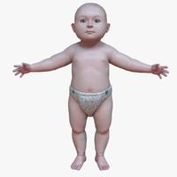 baby child boy 3d max