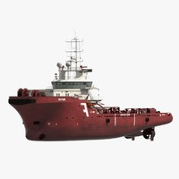 anchor handling tug supply vessel 3d max