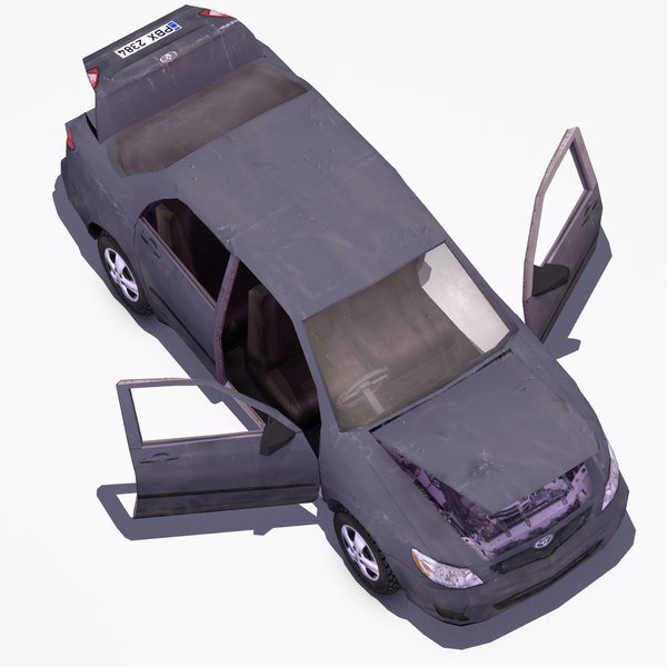 damaged toyota corolla 3d 3ds