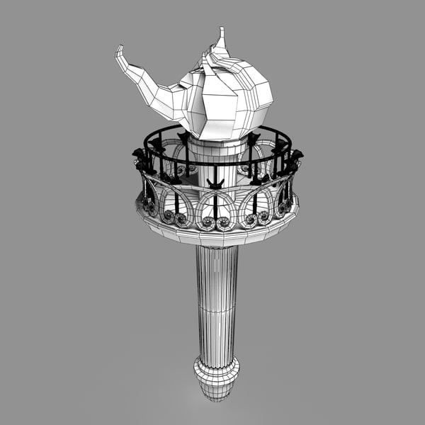 statue liberty torch 3d max - Statue of Liberty Torch... by Lochness 3D