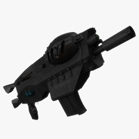 3d model generic automatic rifle