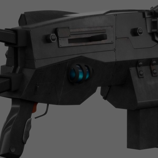 3d model generic automatic rifle - Galactic Future Rifle... by Ebal Studios