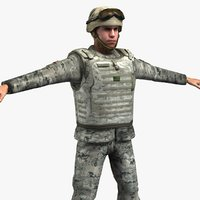 3d army soldier model