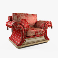 armchair modeled 3d max