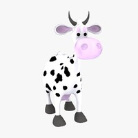 3d cartoon cow model