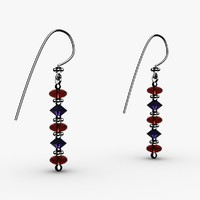3ds max cut crystal bead earrings