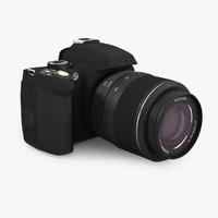 3d dslr camera lens model