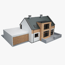 cottage 3D models