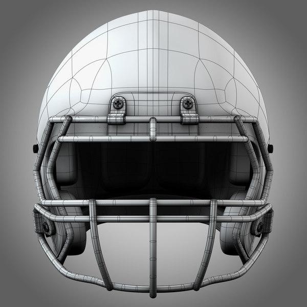 Football Helmet Front View : Realistic football helmet d c