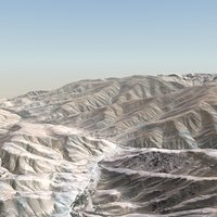 desert terrain landscape 3d 3ds