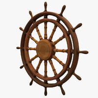 ship wheel 3 3d obj