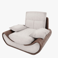 3d armchair satis