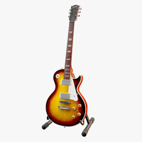 gibson les paul sunburst 3d model