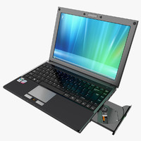 3d notebook laptop model