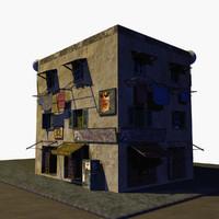 3d building street model