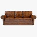 leather sofa 3D models