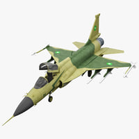 3d realistic jf-17 thunder fighter model