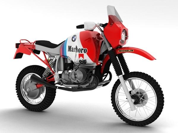 3d bmw gs980r dakar 1985