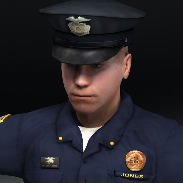 maya policeman police man