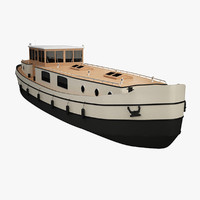 dutch barge 3D models